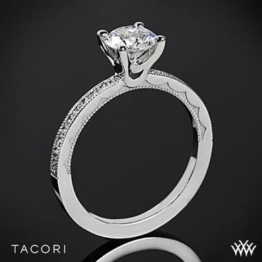 18k Yellow Gold Tacori 44-1.5RD Sculpted Crescent Round Channel Diamond Engagement Ring