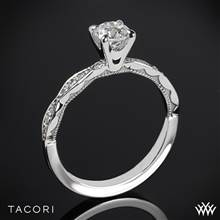 18k Yellow Gold Tacori 46-2RD Sculpted Crescent Diamond Engagement Ring (0.50ct, H-SI, Center Diamond Included) | Whiteflash