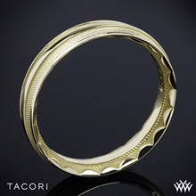 18k Yellow Gold Tacori 76-5 Sculpted Crescent Mesh Wedding Ring | Whiteflash