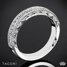 18k Yellow Gold Tacori HT2513RDB Classic Crescent Half Eternity Pave-Set Diamond Wedding Ring | Whiteflash