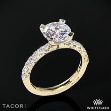 18k Yellow Gold Tacori HT2545 Petite Crescent Scalloped Millgrain Diamond Engagement Ring | Whiteflash