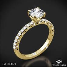 18k Yellow Gold Tacori HT2545RD Petite Crescent Scalloped Millgrain Diamond Engagement Ring | Whiteflash