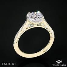 18k Yellow Gold Tacori HT2547 Petite Crescent Celestial Diamond Engagement Ring | Whiteflash