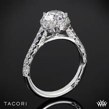 18k Yellow Gold Tacori HT2547RD Petite Crescent Celestial Diamond Engagement Ring | Whiteflash