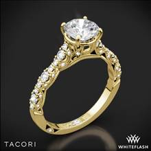 18k Yellow Gold Tacori HT2558RD Petite Crescent Diamond Engagement Ring | Whiteflash