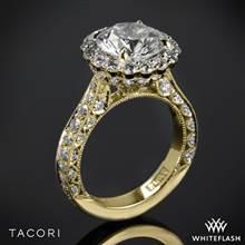 18k Yellow Gold Tacori HT2605RD RoyalT Bloom Diamond Engagement Ring | Whiteflash