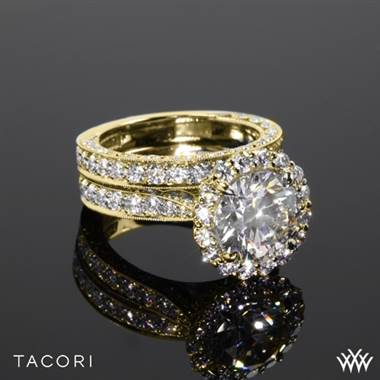 18k Yellow Gold Tacori HT2605RD RoyalT Bloom Diamond Wedding Set