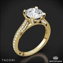 18k Yellow Gold Tacori HT2627RD RoyalT Diamond Engagement Ring | Whiteflash