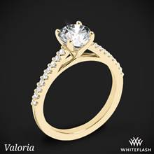 18k Yellow Gold Valoria Cathedral Diamond Engagement Ring | Whiteflash