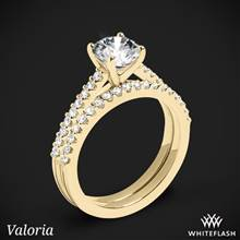 18k Yellow Gold Valoria Cathedral Diamond Wedding Set | Whiteflash