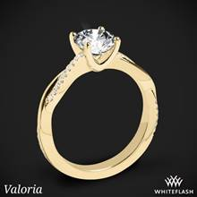 18k Yellow Gold Valoria Flora Twist Diamond Engagement Ring | Whiteflash