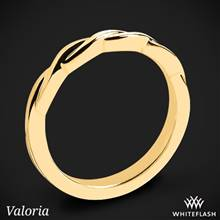 18k Yellow Gold Valoria Flora Twist Matching Solitaire Wedding Ring | Whiteflash