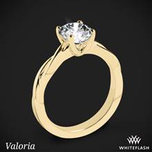 18k Yellow Gold Valoria Flora Twist Solitaire Engagement Ring | Whiteflash