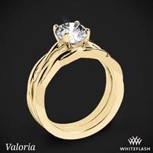 18k Yellow Gold Valoria Flora Twist Solitaire Wedding Set | Whiteflash