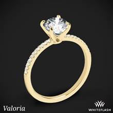 18k Yellow Gold Valoria Micropave Diamond Engagement Ring | Whiteflash