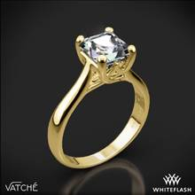 18k Yellow Gold Vatche 1019 Royal Crown Solitaire Engagement Ring for Princess | Whiteflash
