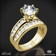 18k Yellow Gold Vatche 1020 6-Prong Channel Diamond Diamond Wedding Set | Whiteflash