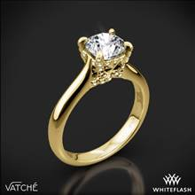 18k Yellow Gold Vatche 1025 X-Prong Surprise Solitaire Engagement Ring | Whiteflash