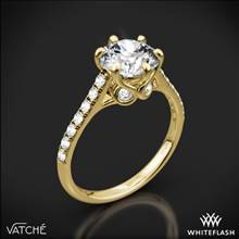 18k Yellow Gold Vatche 1054 Swan French Pave Diamond Engagement Ring | Whiteflash