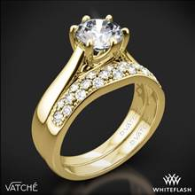 18k Yellow Gold Vatche 119 Royal Crown Diamond Wedding Set | Whiteflash