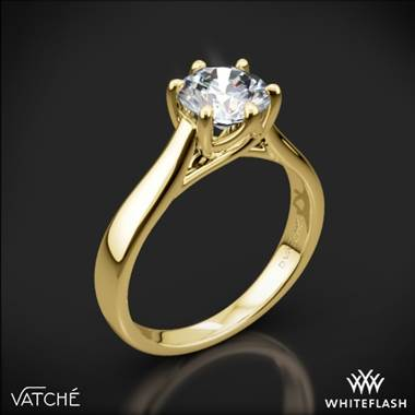 18k Yellow Gold Vatche 119 Royal Crown Solitaire Engagement Ring