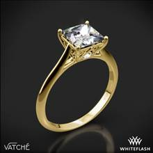 18k Yellow Gold Vatche 1505 Inara Solitaire Engagement Ring for Princess | Whiteflash