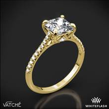 18k Yellow Gold Vatche 1506 Inara Pave Diamond Engagement Ring for Princess | Whiteflash