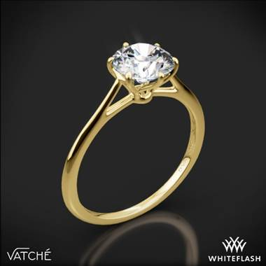 18k Yellow Gold Vatche 1513 Felicity Solitaire Engagement Ring