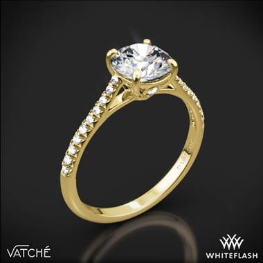 18k Yellow Gold Vatche 1515 Inara Pave Diamond Engagement Ring