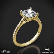 18k Yellow Gold Vatche 1517 Aurora Diamond Engagement Ring for Princess | Whiteflash