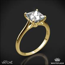 18k Yellow Gold Vatche 1520 Lyric Solitaire Engagement Ring for Princess | Whiteflash