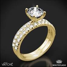 18k Yellow Gold Vatche 1533 Charis Pave Diamond Wedding Set | Whiteflash