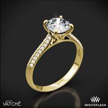 18k Yellow Gold Vatche 189 Caroline Pave Diamond Engagement Ring | Whiteflash