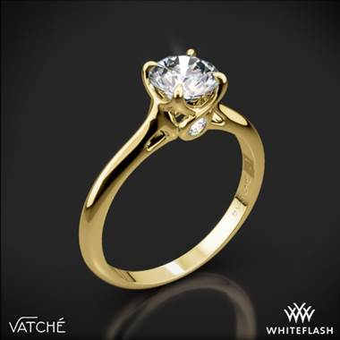 18k Yellow Gold Vatche 194 Sisley Solitaire Engagement Ring