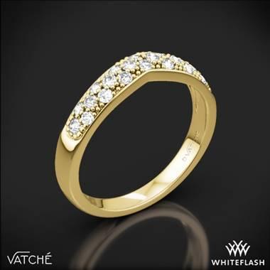 e21e9e179f5b56 18k Yellow Gold Vatche 213 Contoured Pave Diamond Wedding Ring ...