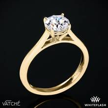 18k Yellow Gold Vatche U-100 Traditional Round Solitaire Engagement Ring | Whiteflash