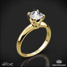 18k Yellow Gold Vatche U-114 5th Avenue Solitaire Engagement Ring | Whiteflash