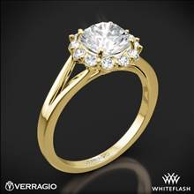18k Yellow Gold Verragio ENG-0356 Split Shank Halo Solitaire Engagement Ring | Whiteflash