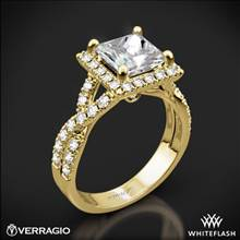 18k Yellow Gold Verragio ENG-0379 Square Halo Diamond Engagement Ring | Whiteflash