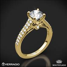 18k Yellow Gold Verragio ENG-0382R Double Pave Diamond Engagement Ring | Whiteflash