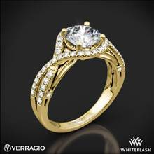 18k Yellow Gold Verragio ENG-0405 4 Prong Bypass Diamond Engagement Ring | Whiteflash