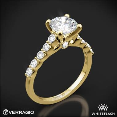18k Yellow Gold Verragio ENG-0410SR Shared-Prong Cathedral Diamond Engagement Ring