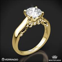 18k Yellow Gold Verragio INS-7022 4 Prong Knife-Edge Solitaire Engagement Ring | Whiteflash