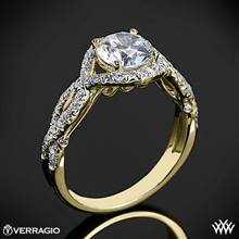 18k Yellow Gold Verragio INS-7040R Twisted Bypass Diamond Engagement Ring | Whiteflash
