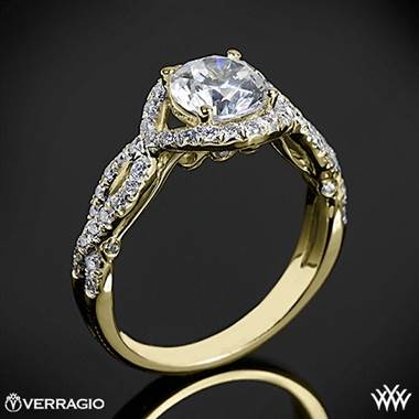 18k Yellow Gold Verragio INS-7040R Twisted Bypass Diamond Engagement Ring