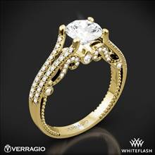 18k Yellow Gold Verragio INS-7063R Insignia Diamond Engagement Ring | Whiteflash