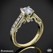 18k Yellow Gold Verragio INS-7064R Beaded Channel-Set Diamond Engagement Ring | Whiteflash