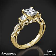 18k Yellow Gold Verragio INS-7074P Beaded Braid Princess 3 Stone Engagement Ring | Whiteflash