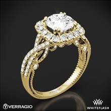 18k Yellow Gold Verragio Insignia INS-7086CU Halo Diamond Engagement Ring | Whiteflash