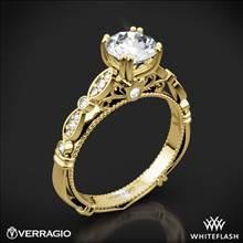 18k Yellow Gold Verragio Parisian D-100 Diamond Engagement Ring | Whiteflash